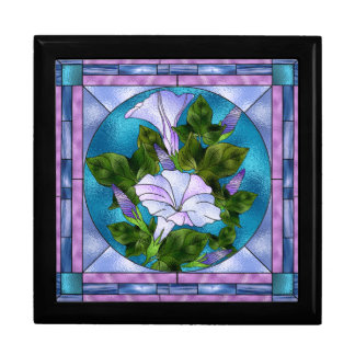 Morning Glory Stained Glass Look Gift Box