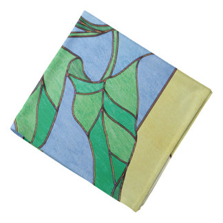 Morning Glory Stained Glass Look Kerchiefs