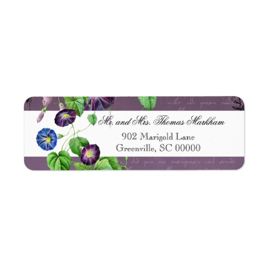 Morning Glory Summer Personalised Address Labels