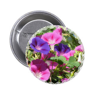 Morning Glory Vines Button