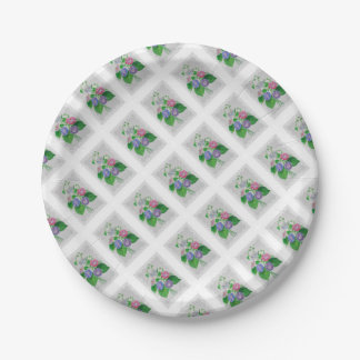 Morning Glory Vintage Bouquet 7 Inch Paper Plate