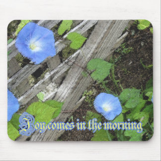 Morning Glory Watercolor Mouse Pad