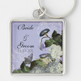 Morning Glory Wedding - Personalized Key Chain