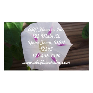 Morning Glory White Business Card
