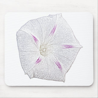 Morning Glory White Mouse Pads