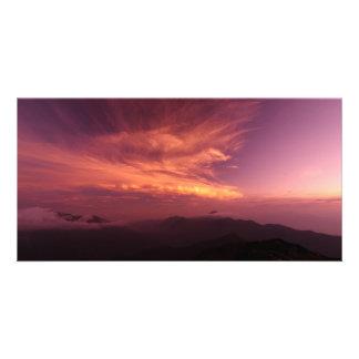 Morning Glow ON The Mountain Photo Card