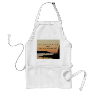 "Morning glow, ""This is the day!"" Adult Apron"