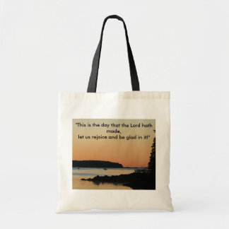 "Morning glow, ""This is the day!"" Canvas Bags"