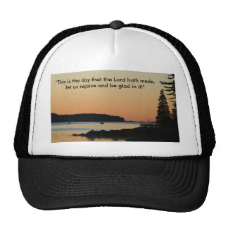 """Morning glow, """"This is the day!"""" Trucker Hats"""