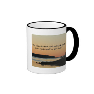 "Morning glow, ""This is the day!"" Ringer Mug"