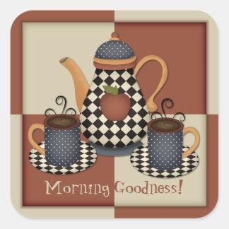 Morning Goodness Coffee Sticker