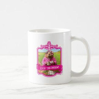 Morning Groundhog with Breakfast Donut and Coffee Coffee Mug