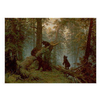Morning in a Pine Forest, 1889 Poster