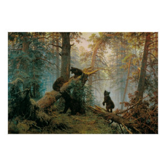 Morning in a Pine Forest Poster