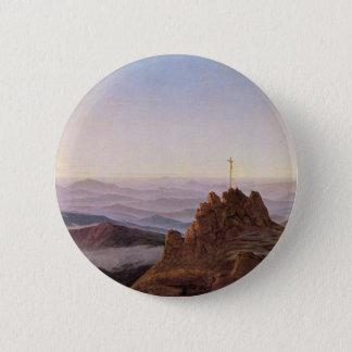Morning in Riesengebirge - Caspar David Friedrich 6 Cm Round Badge