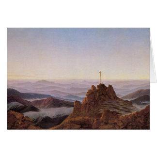 Morning in Riesengebirge - Caspar David Friedrich Card