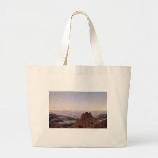 Morning in Riesengebirge - Caspar David Friedrich Large Tote Bag