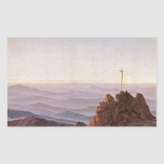 Morning in Riesengebirge - Caspar David Friedrich Rectangular Sticker