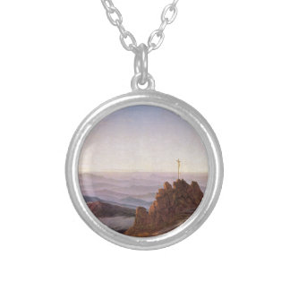 Morning in Riesengebirge - Caspar David Friedrich Silver Plated Necklace