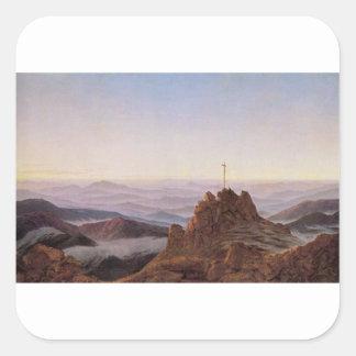 Morning in Riesengebirge - Caspar David Friedrich Square Sticker