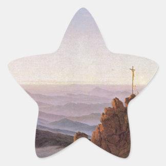 Morning in Riesengebirge - Caspar David Friedrich Star Sticker