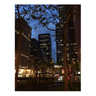 Morning in Rockefeller Center Midtown NYC Postcard