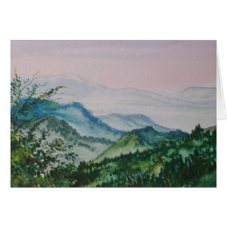 Morning in the blue ridge mountains card