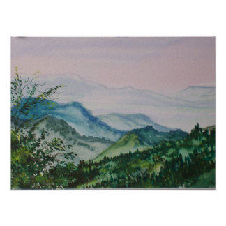 Morning in the Blue Ridge Mountains Poster