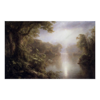 Morning in the tropics by Frederic Edwin Church Poster