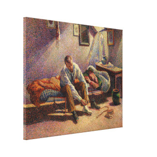 Morning, Interior by Maximilien Luce in 1890 Canvas Print