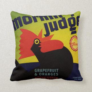 Morning Judge Grapefruit Crate Label Cushion