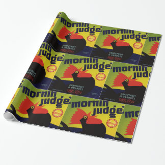 Morning Judge Grapefruit Crate Label Wrapping Paper