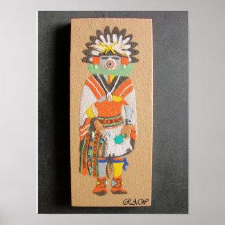 """Morning"" Kachina sand painting print"
