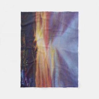 Morning Light in CHB Sunrise Painting Fleece Blanket