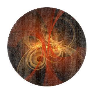 Morning Magic Abstract Art Circle Cutting Board