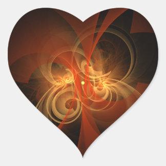 Morning Magic Abstract Art Heart Sticker