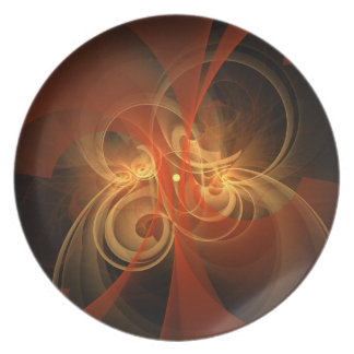 Morning Magic Abstract Art Plate