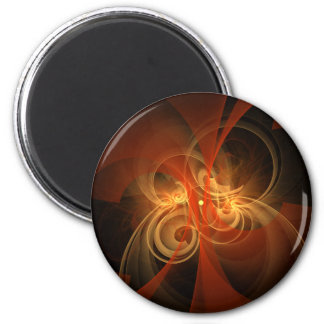 Morning Magic Abstract Art Round Magnet