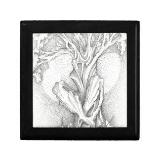 Morning Meditating Tree Small Square Gift Box