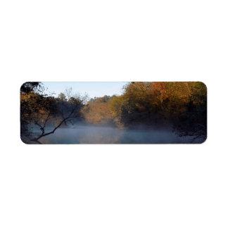 Morning Mist on the Creek Return Address Label