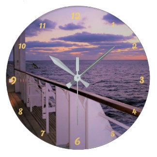Morning on Board Large Clock