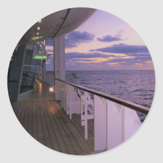 Morning on Board Rnd Classic Round Sticker