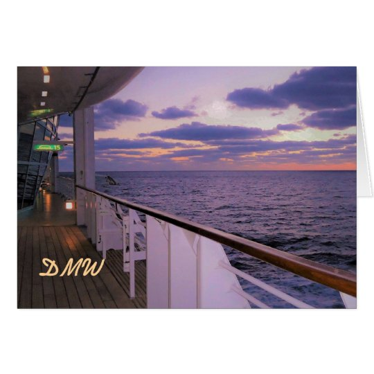 Morning on Deck Blank Note Cards