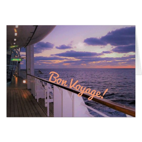 Morning on Deck Bon Voyage Card