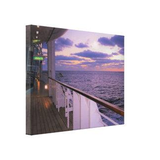 Morning on Deck Canvas Print