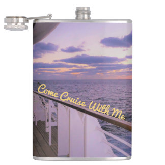 Morning on Deck Cruise with Me Hip Flask