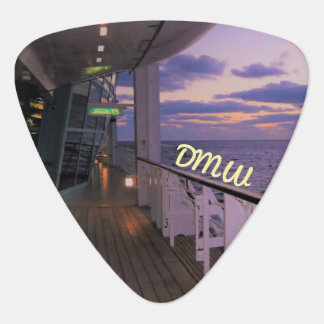Morning on Deck Monogrammed Guitar Pick