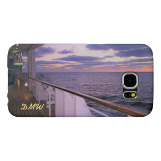 Morning on Deck Monogrammed Samsung Galaxy S6 Cases