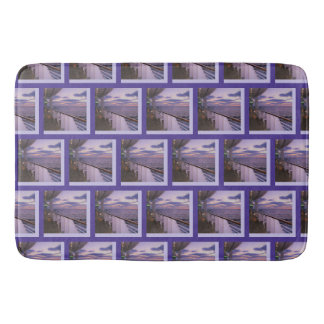 Morning on Deck Pattern Bath Mat