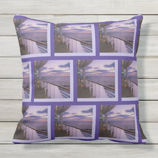 Morning on Deck Pattern Outdoor Cushion